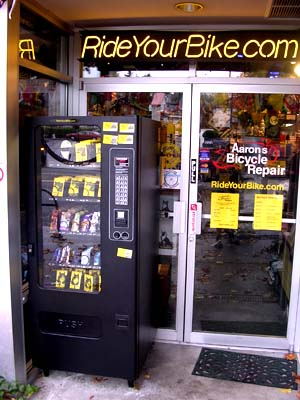 Inner Tube Vending Machine At Aaron S Bicycle Repair